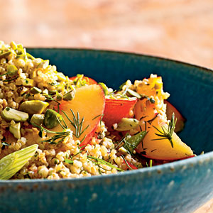 Cracked Wheat Salad with Nectarines, Parsley, and Pistachios Recipe