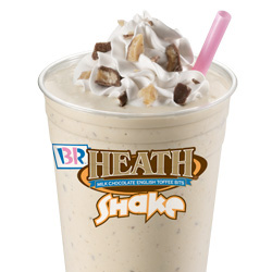 Baskin Robbins Large Heath Bar Shake