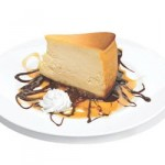 Romano's Macaroni Grill New York Cheesecake with Caramel Fudge Sauce